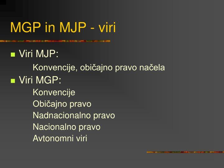MGP in MJP - viri