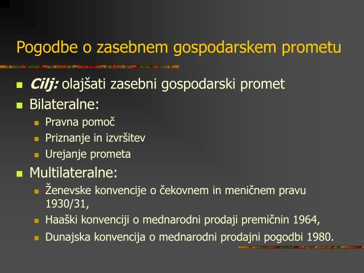 Pogodbe o zasebnem gospodarskem prometu