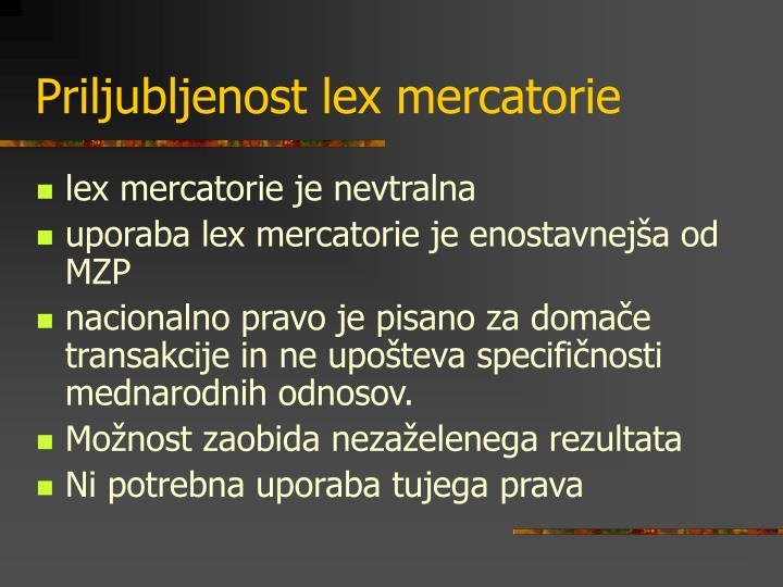 Priljubljenost lex mercatorie