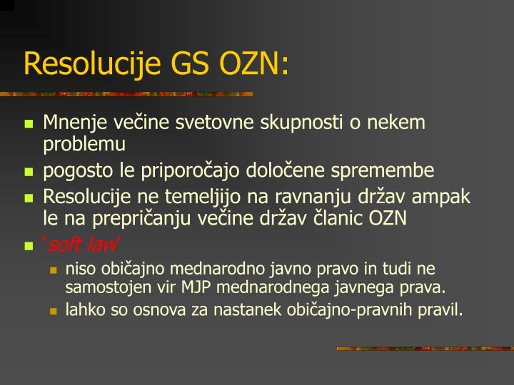 Resolucije GS OZN: