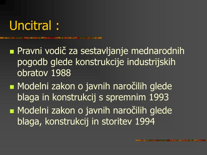 Uncitral :