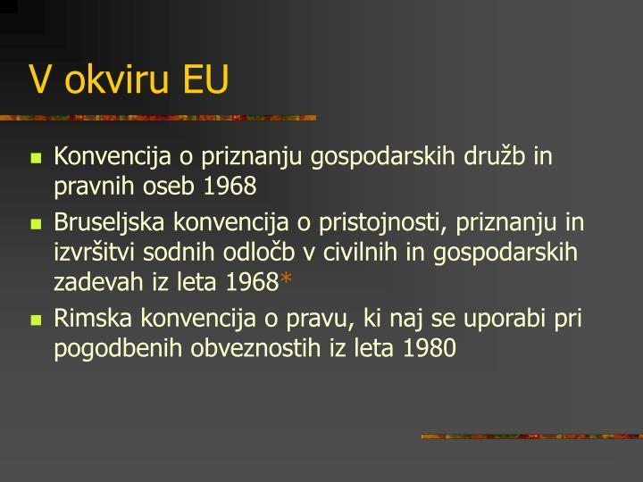 V okviru EU