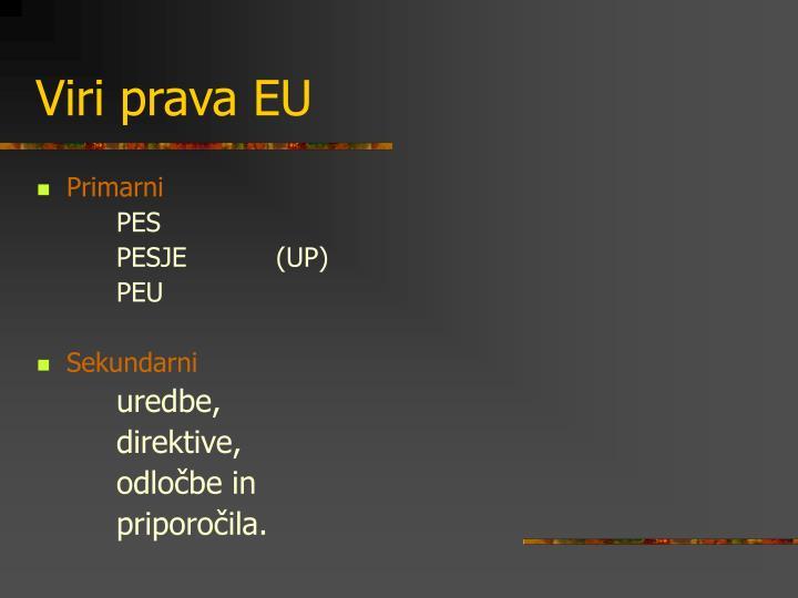 Viri prava EU
