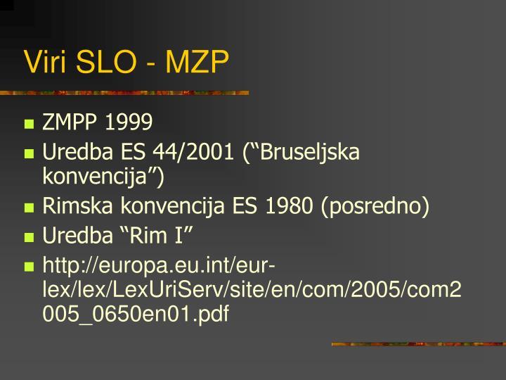 Viri SLO - MZP