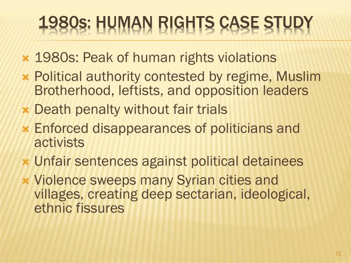 1980s: Peak of human rights violations