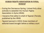 human rights association in syria tayarat