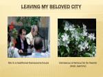 leaving my beloved city