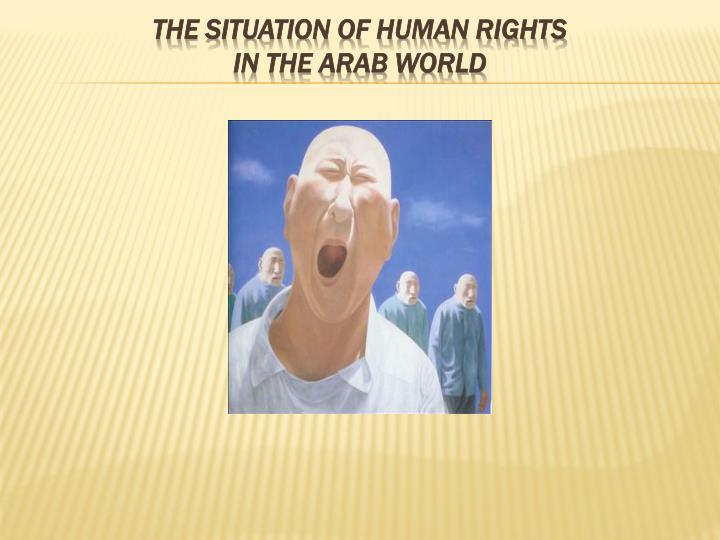 the situation of human rights