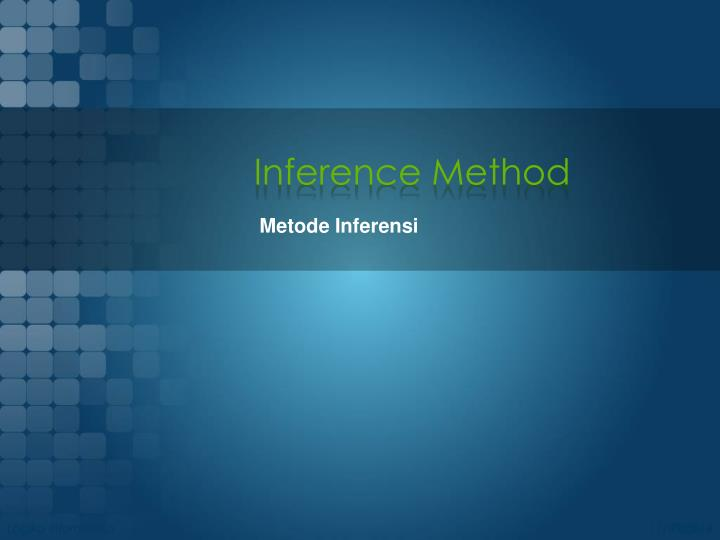 Inference Method