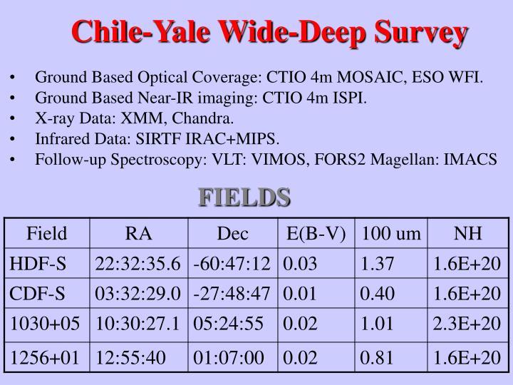 Chile-Yale Wide-Deep Survey