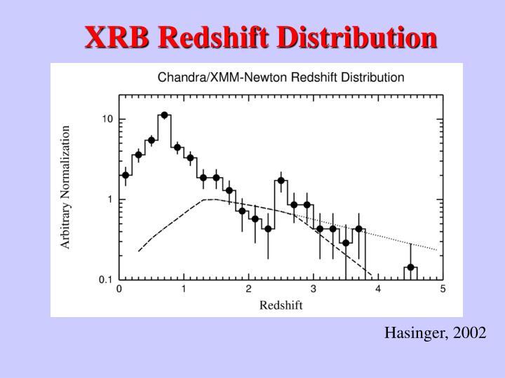 XRB Redshift Distribution