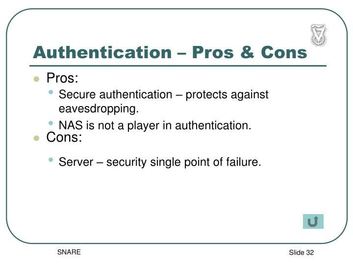 Authentication – Pros & Cons