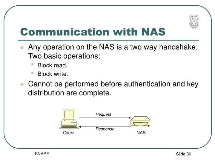 Communication with NAS