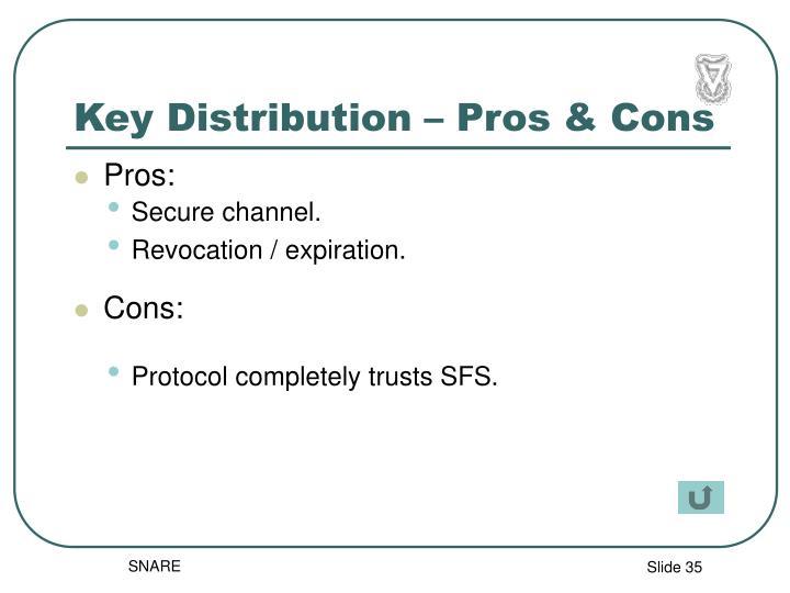 Key Distribution – Pros & Cons