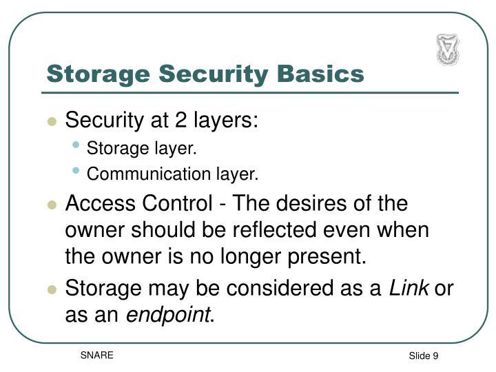 Storage Security Basics