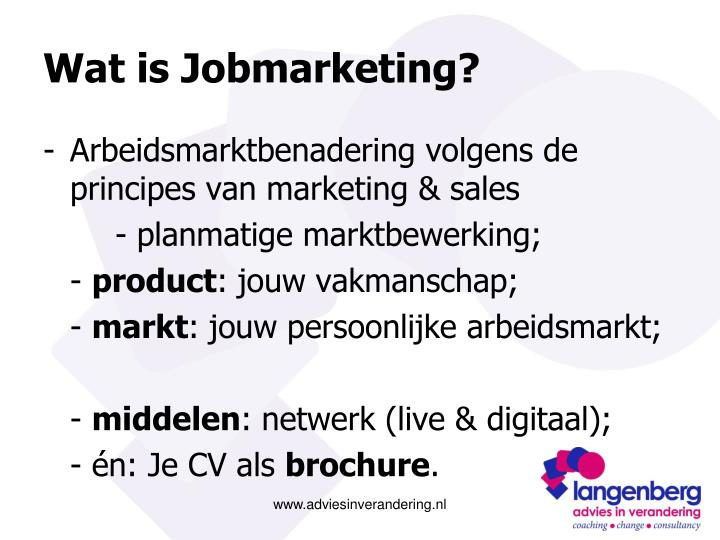 Wat is jobmarketing