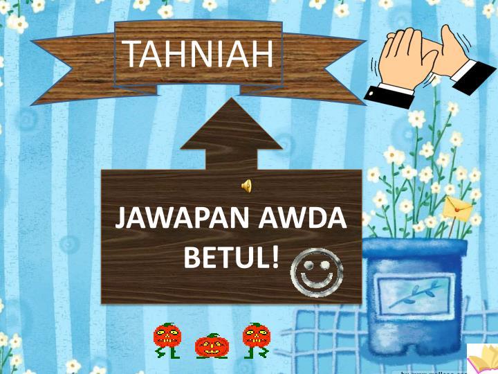 TAHNIAH