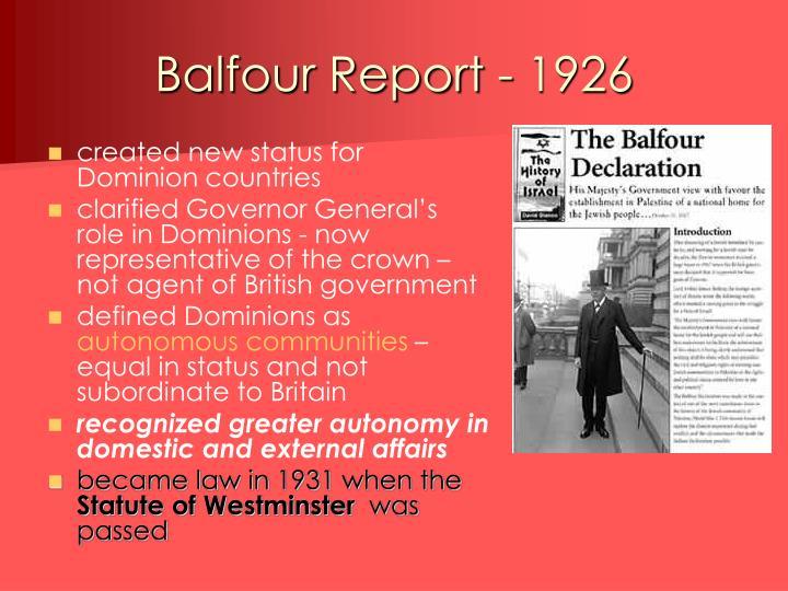 Balfour Report - 1926
