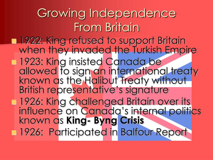 Growing Independence