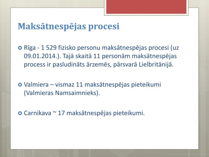 Maksātnespējas procesi