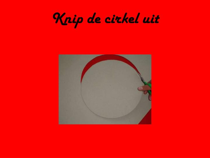 Knip de cirkel uit