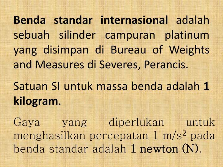 Benda standar internasional