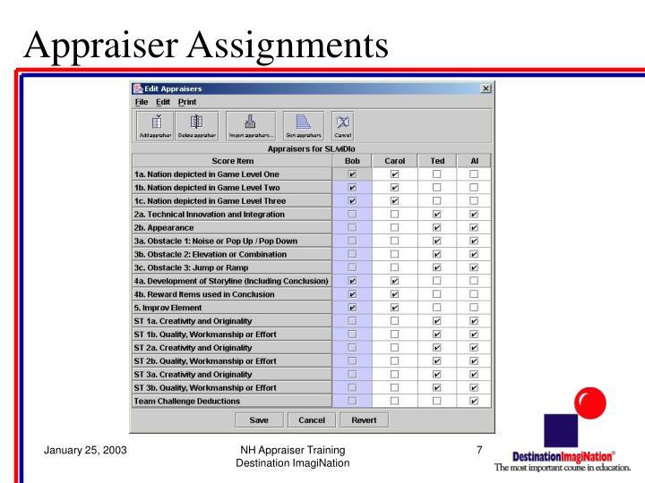 Appraiser Assignments