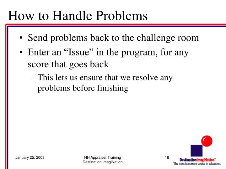 How to Handle Problems
