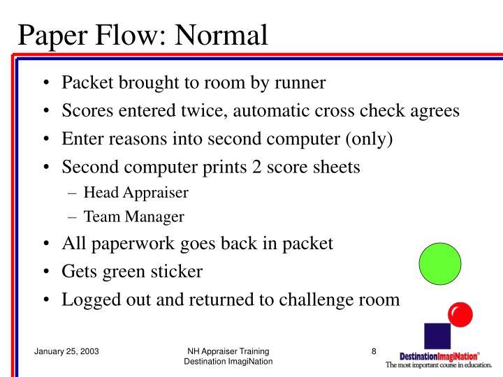 Paper Flow: Normal