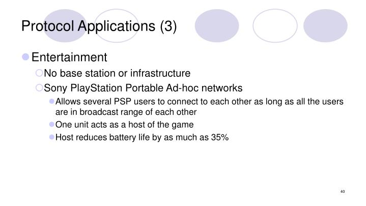 Protocol Applications (3)