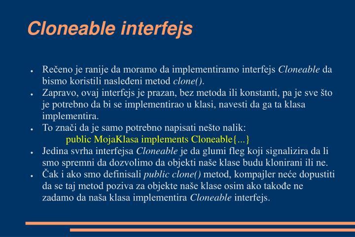 Cloneable interfejs