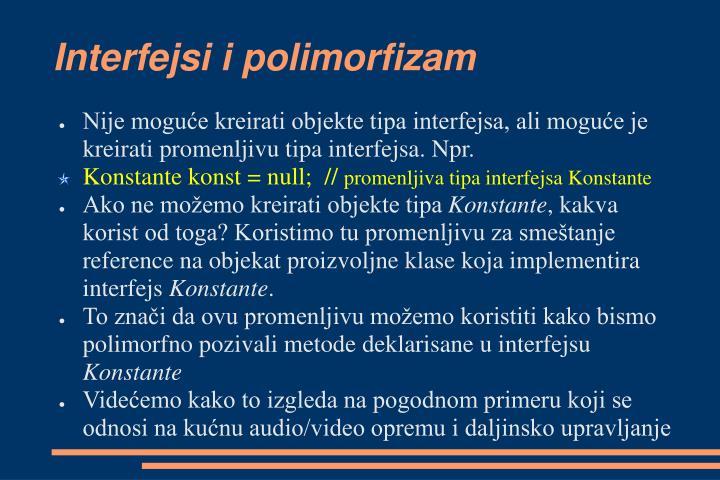 Interfejsi i polimorfizam