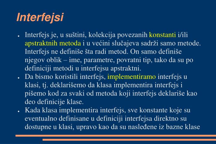 Interfejsi