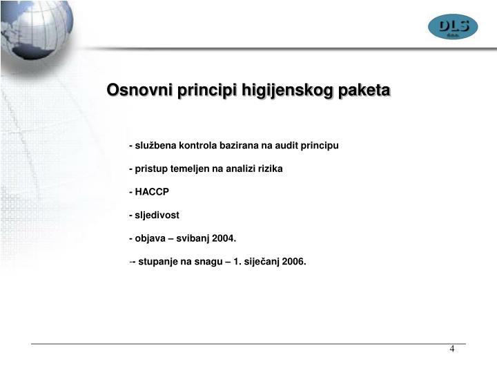 Osnovni principi higijenskog paketa