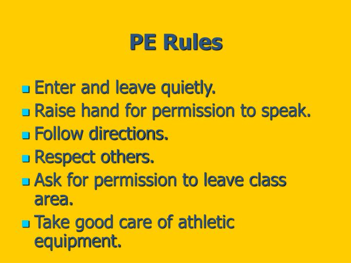 PE Rules