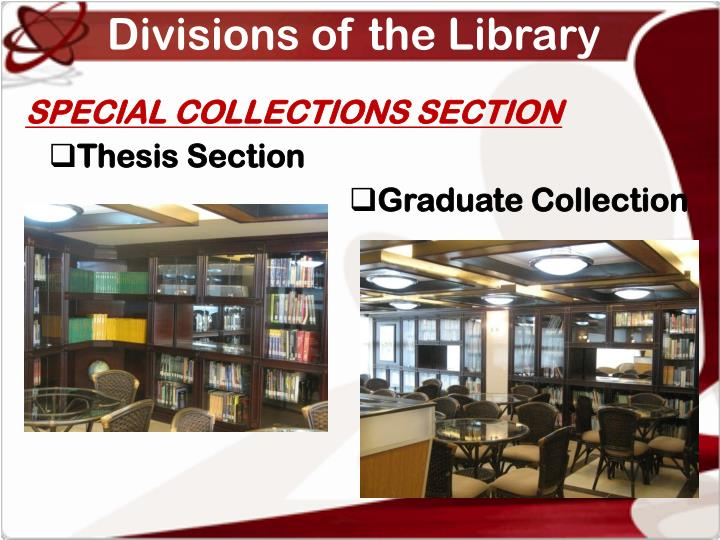 Divisions of the Library
