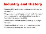 industry and history