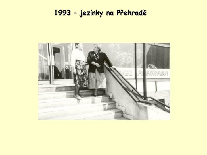 1993 – jezinky na Přehradě