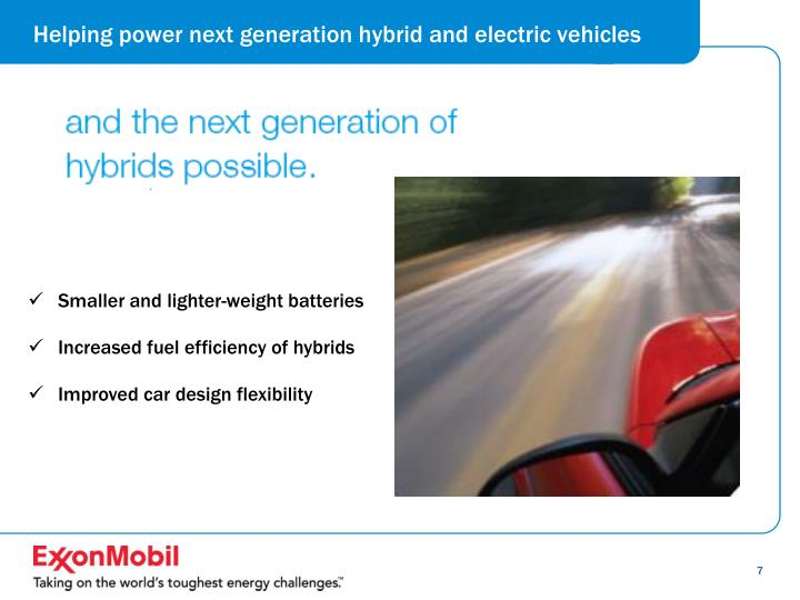 Helping power next generation hybrid and electric vehicles