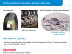 other exxonmobil technologies already on the road