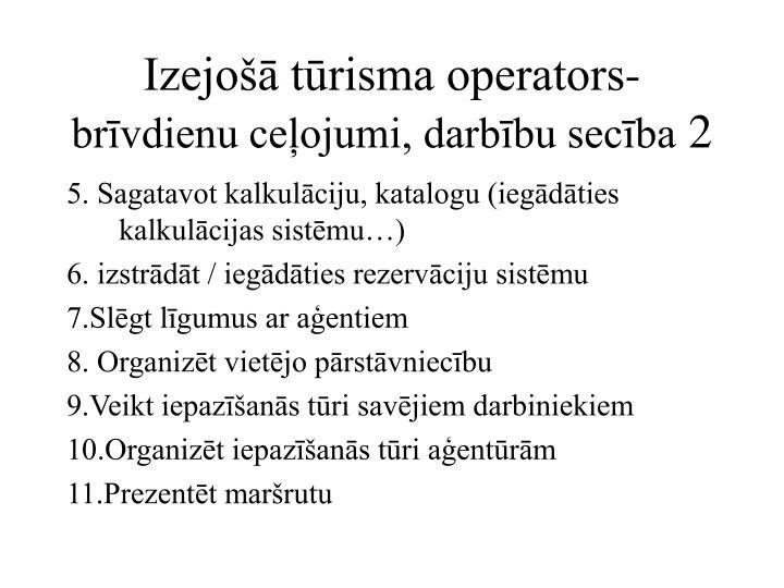 Izejošā tūrisma operators-