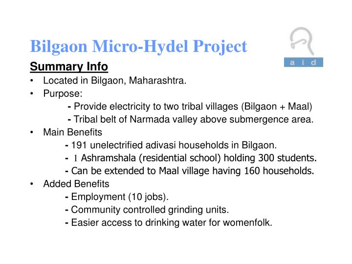 Bilgaon micro hydel project1