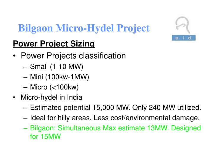 Bilgaon micro hydel project2