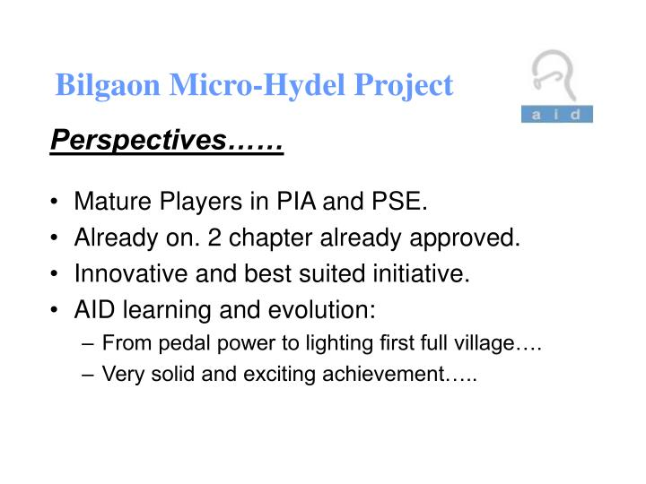 Bilgaon Micro-Hydel Project