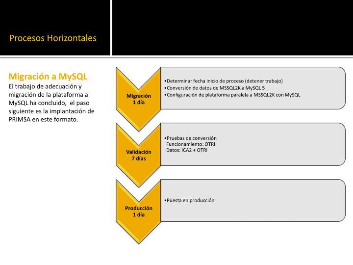 Procesos Horizontales