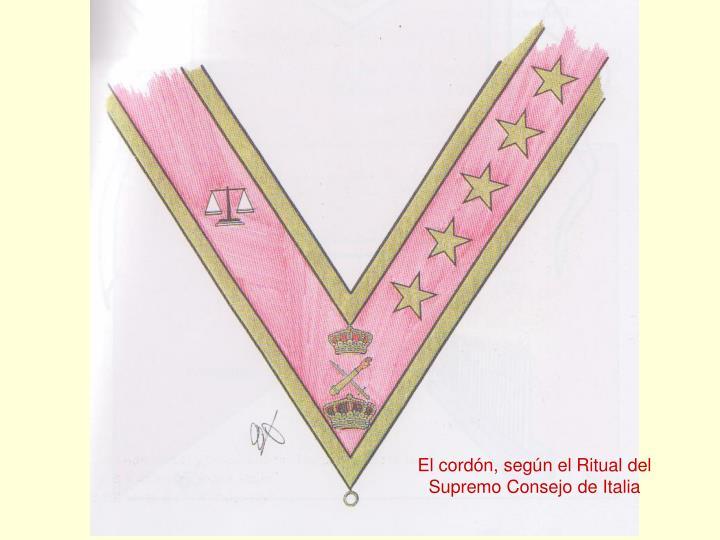 El cordón, según el Ritual del
