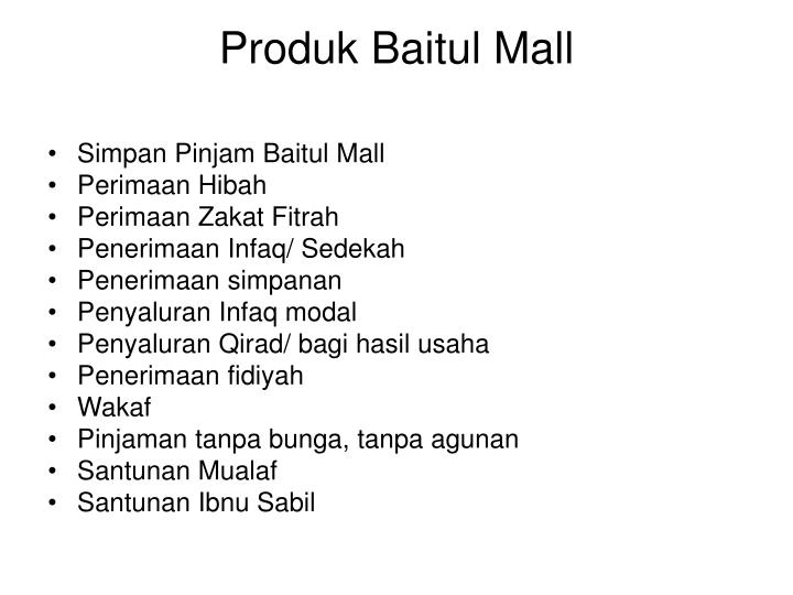 Produk Baitul Mall