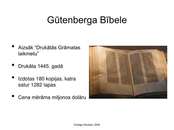 Gūtenberga Bībele