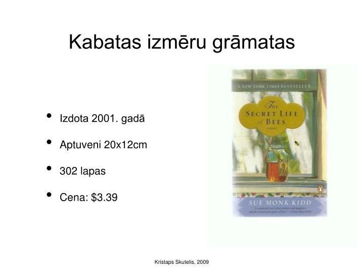 Kabatas izmēru grāmatas