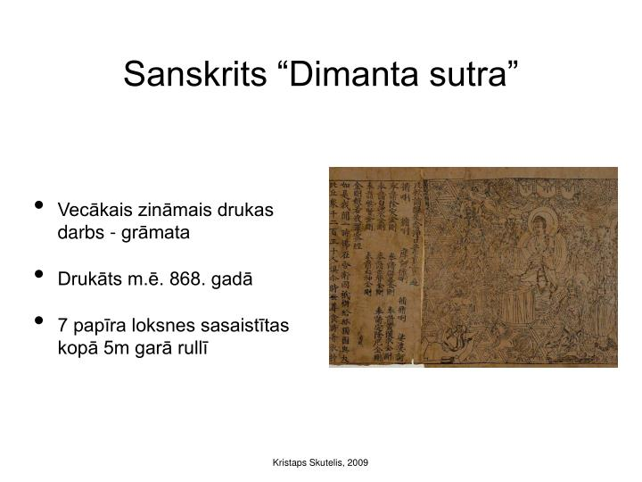 "Sanskrits ""Dimanta sutra"""